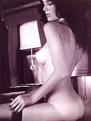 Vintage sexy naked babes are wearing panties