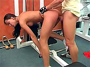 Sweetie sucking the sport instructors cock