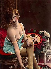 Vintage naked girls on very classic paintings