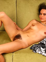 The delightful Sarah has something she wants to show you! You guessed it, its her big hairy pussy and gorgeous slim body. Take a closer look.