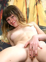 Little Sage has a big surprise for you. Can you guess what it is? its her juicy tight bush! Watch this minx strip down and reveal her natural beauty.