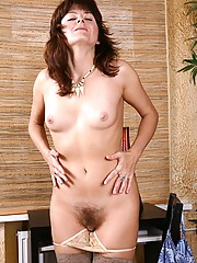 Once again Elena V crams several ornaments into her fluffy vagina. Elena works it deep into her juicy pussy, and will leave you with shivers.
