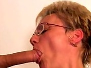 Speccy granny loves spit roasting