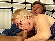 Granny enjoys some face fucking fun