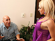 Shawna Lenee displaying her sexy lingerie to her big cock man