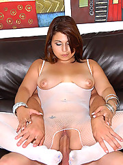 Hot fucking white fish net latina gets drilled hard in her tight ass pussy then covered in cum hot reality pics