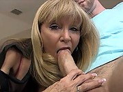granny blowjob with young guy