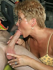 wife tracy makes cock explode on face at cumblastcity