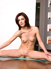 Adela is about to do her yoga but she gets horny and decided to gives us some nice pussy show first