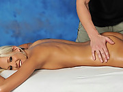 Jake gives these three 18 year old girls more than just a massage! Watch them get Fucked Hard