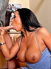 Horny milf gets rammed in her tight pussy