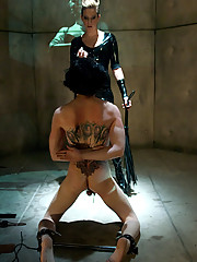 Veteran slaveboy shows his devotion to his mistress with self-flagellation, enduring CBT, predicament bondage and tease and denial.