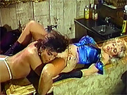 Two retro horny lesbians licking their pussy