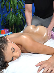 Cute and sexy 18 year old gets fucked hard by her massage therapist