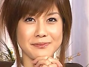 Hime Kamiya removes her robe to show her bra and panties