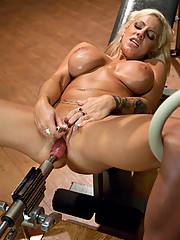 Brittany Spears look-a-like Lylith Lavey fucked in stress positions by custom machines. She has full body, twitching orgasms that leave her breathless