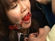 Yayoi Yoshino is dominated by a group of men in this video