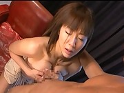Yuma Asami has her big natural tits fucked in this steamy video