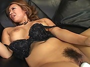Yuuna Enomoto moans as she is given a face load of cum to enjoy