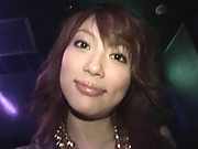 Akari Hoshino getting molested by a group of horny men