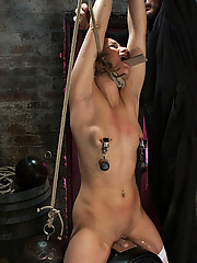Tiny girl in pig tails and thigh highs, bound and helpless on a Sybian, made to cum over and over and over....