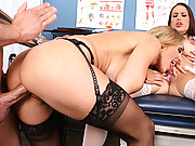 Hot bitches fuck a young guy at school