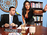 Chick gets fucked in her office building