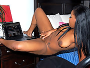 Watch this hot horny big tits ebony babe get fucked hard in her pussy after sucking on mega dong 4 hot big movies