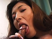 Saeko fingered before sucking his cock and fucking him