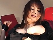 Juri Matsuzaka gets tied and hairy pussy fingered by her date