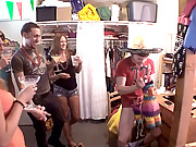 4 super hot college babes get naked playing spin the bottle then get fucked hard in their dorm rooms in these reality fucking movies