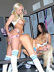 Hot fucking lesbians fuck eachother in the gym in these hot long leg hot ass fucking pics