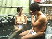Maria Yuki naked in the bath with a younger horny male