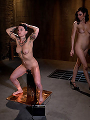 Brand new model gets tied up and fucked with electricity for the first time ever!