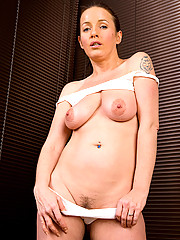 Tight bodied MILF Marlyn from AllOver30 gets hot on the trampoline