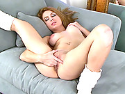 Stunning Nubile Tinka loves to make herself cum while you watch