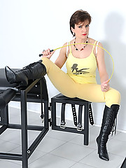 Mature jodhpurs and boots mistress