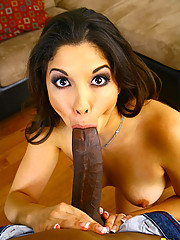 Madaline Gets Juicy Pussy Slammed With Black Cock