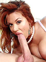 Sexy Redhead Sienna West Slamming Pussy On Cock