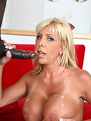Mature Blonde Misty Vonage Gets Black Cock Slammed Up Twat