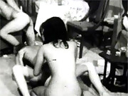 Real horny vintage fucking party with chicks