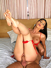 Hot fucking long leg latina gets drilled hard up her tight snatch hot pis