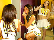 Super hot fucking cheerleaders masterbate and fuck eachother in these hot college fucking movies and pics