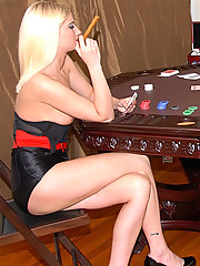 Super hot big tits lesbian booty short babes fuck each other on the poker table in this hot reality fuck pic set