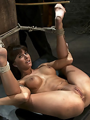 Gia DiMarco is bound hard in rope bondage, and made to squirt like a huge fountain!  Gets finger fucked to multiple squirting orgasms!