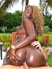Amazing super hot black booty ass gets her black box fucked at the pool in these wet oily fucking pics