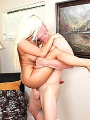 Blond milf receives back door destruction