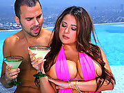 Super hot fucking  big tits babe  penelope gets drilled up her tight fucking ass poolside hot wet big movies