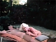 A horny blonde in a hot tub fucked hardcore