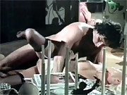 An erotic retro babe drilled hard by friend